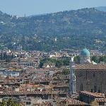 la collina di fiesole e Villa Jacopone da Villa Bardini