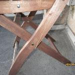 Broken chair provided by the owner