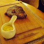Dry Aged Maurice Kyttle Irish Rib-Eye Steak with itsy bitsy bone marrow