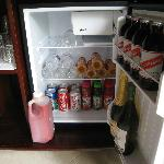 Our refrigerator filled with good things to drink!