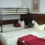 our bed room with 4 beds