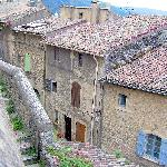 The village houses of the lower terrace of Bonnieux below