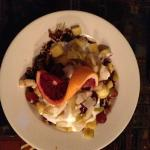 Housemade granola with fruit and yogurt