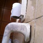 broken filthy towel rail