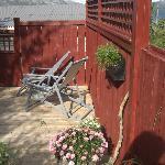 One of the decks outside summertime
