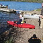 Tom helping my husband go kayaking!