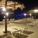 Avalon Hotel beach at night