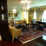The living room in our suite (Tang Dynasty Suite)