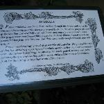 Excerpt of Emily Carr's writings on garden plaque