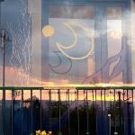 Entrata con tramonto riflesso