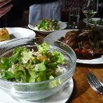 The duck for two and side salad