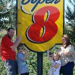 Our family showing the Super 8 in Salisbury some love.