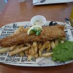Fish Chips and Peas