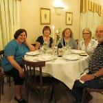 My friends and I enjoying a great Lancelot dinner