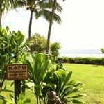 one of many sites along the Koloa Heritage Trail. This is at the beach at the Poipu Marriott. Ot
