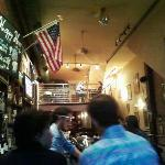 Stars and Stripes in French restaurant, tricolor also there