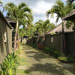 laneway down to the villas