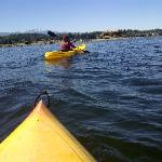 Kayaking around the bay