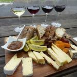 Wine & Cheese Platter at Mercury Bay Estate