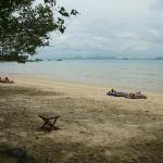 Beach at resort