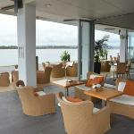 The Point Bar & Restaurant, overlooking the walkway and Richmond River.