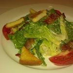 Caesar salad in the italian cafe IlMare
