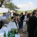 Bar set-up for wedding reception