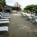 terrazza con la sabbia