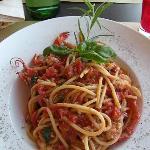 Spaghetti chitarra con astice