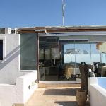 Top floor terrace and breakfast room
