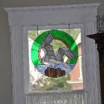 Déco sur une vitre