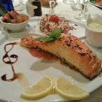 Filet de saumon frais au basilic