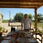 Chef Pierre preparing the table for lunch