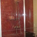 Bathroom with glitter tiles