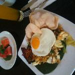 Indonesian breakfast, was lovely