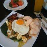 Indonesian breakfast, was lovely