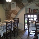 The upstairs dining room