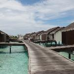 Path to the water villas