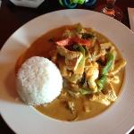 red curry with chicken, divine!