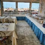 Rooftop breakfast terrace