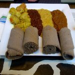 Lunch special ($8.95) - sampler of 4 vegetarian dishes