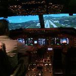 Flying the Boeing 747-200 flight simulator at Al Forsan