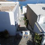Treppe runter zur Straße und zum Strand
