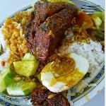 nasi kandar ( rice with mixed curry )