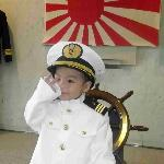 海自制服の試着