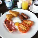 Good English Breakfast at Powderham Orangery . . . .