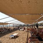 Beach is well shaded and you can lay in sun if you wish