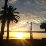 Sunrise over Bay Bridge