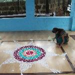 welcome with Rangoli..