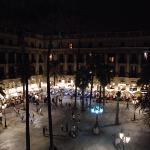 aus der Suite auf Plaça Reial